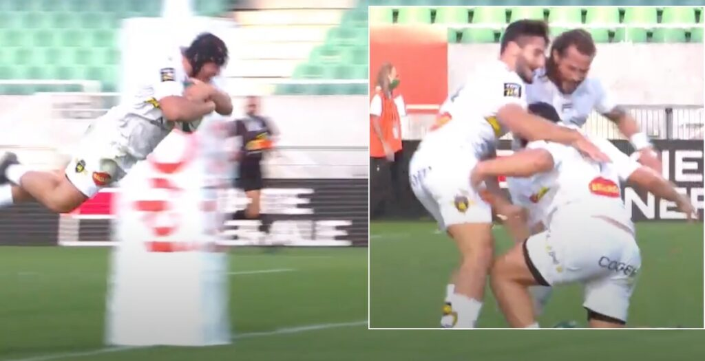 WATCH: 120kg prop dives like a swan to celebrate awesome Top 14 score