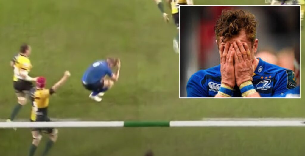 Re-live one of the worst moments of Jamie Heaslip's illustrious club career