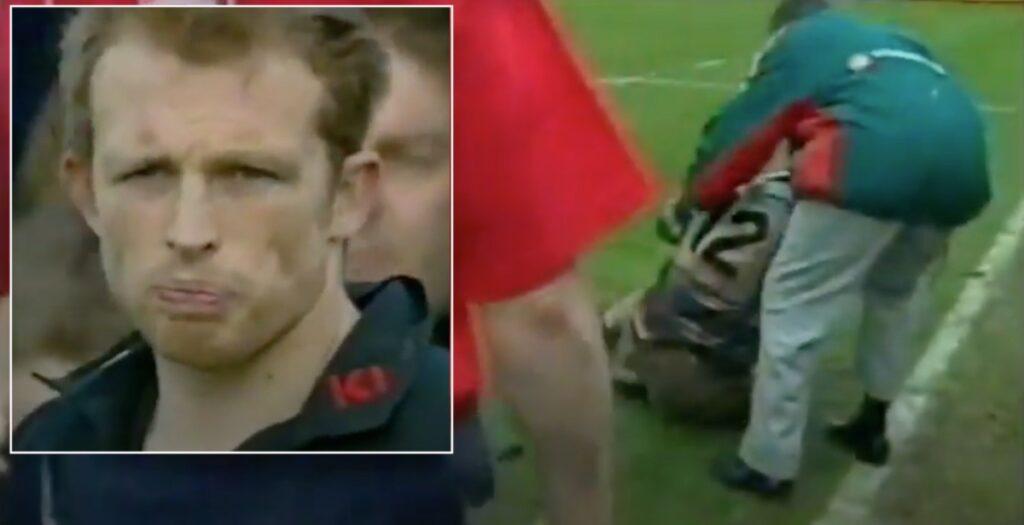 WATCH: Matt Dawson's horror tackle on Wallabies centre in 2001