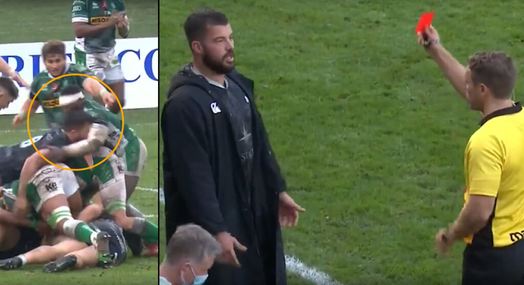 Gareth Evans suspended after awkward red card on the sideline