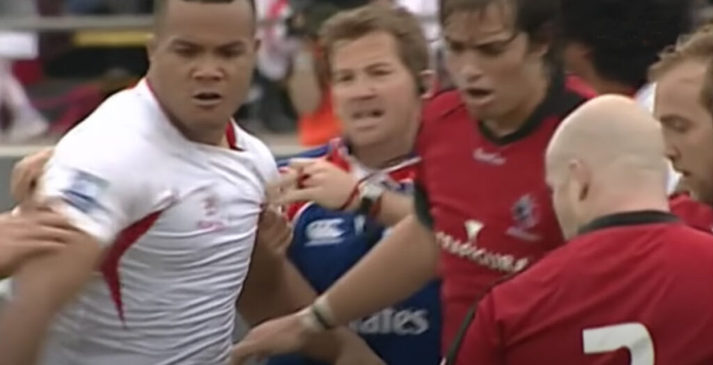 ARCHIVE: Bristol's Piutau leads Tongans into brawl with HUGE punches