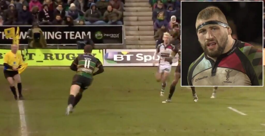 The time Joe Marler sat down one of the world's most powerful wingers with textbook hit