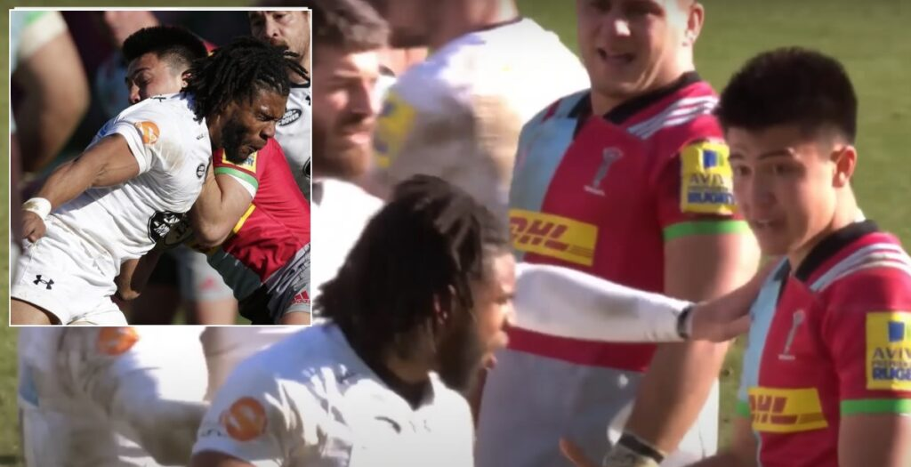 The time Kyle Eastmond took out separate Quins players with two brutal red card hits in two minutes
