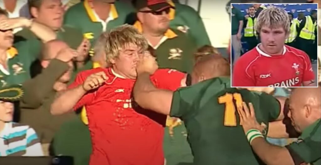 Punches thrown as young Hibbard gets feisty with two Springboks props on 2008 tour