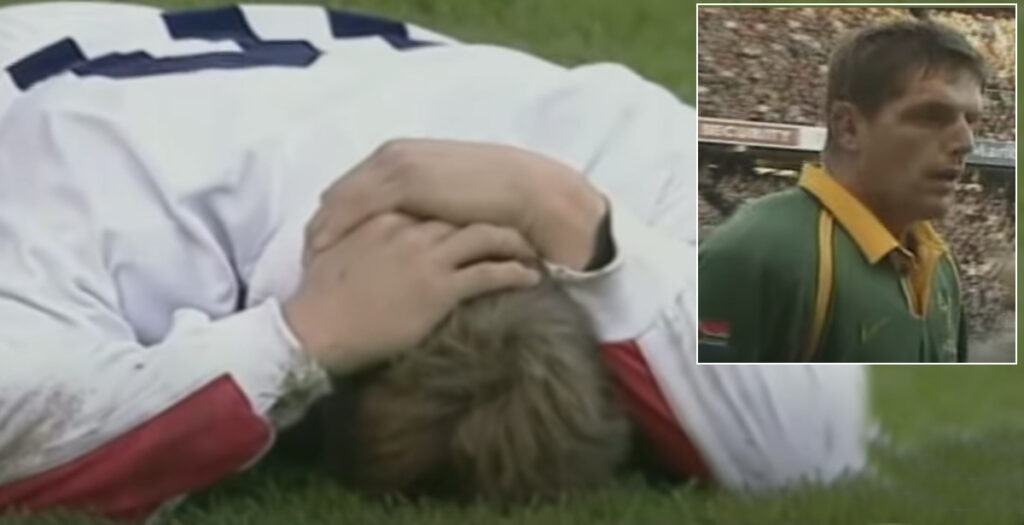 The red card hit on Jonny Wilkinson which ended a Springbok career at Twickenham