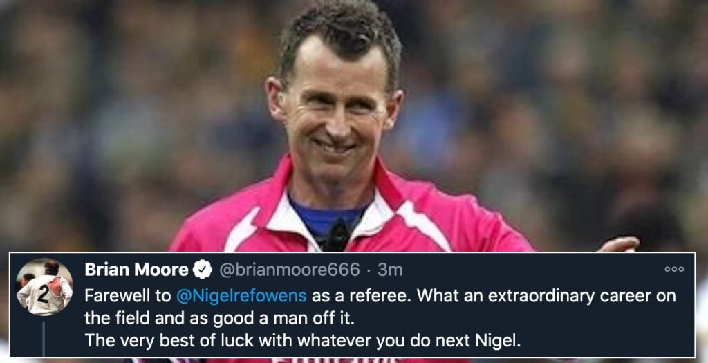 Twitter hits meltdown as praise flies in for Nigel Owens after retirement decision