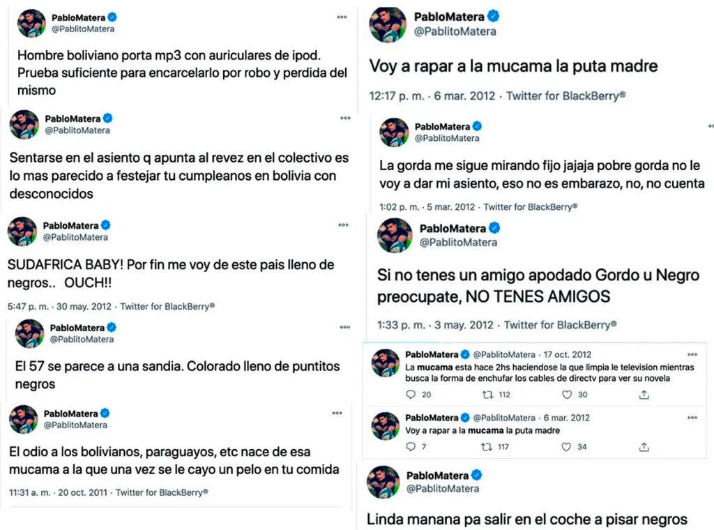 Pablo Matera tweets capturados