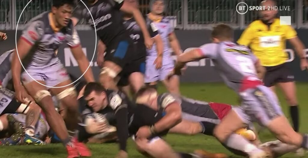 Scarlets lock gets away with late illegal steal to secure dramatic win