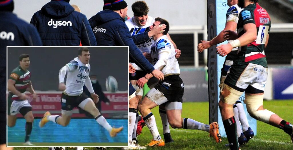 Spencer scores sensational solo try from own half in Premiership clash with Tigers