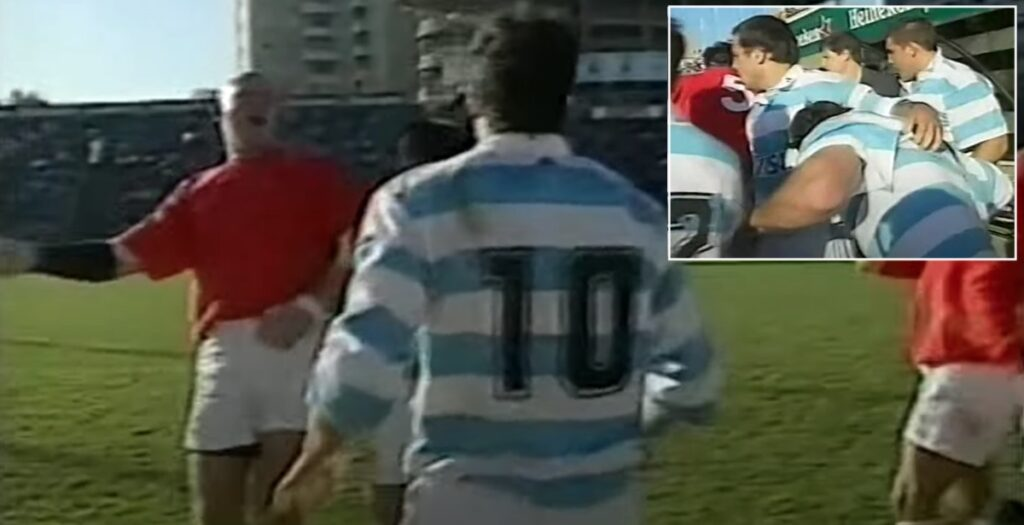 Huge brawl blows up in dugouts during 1999 Wales Test in Buenos Aires