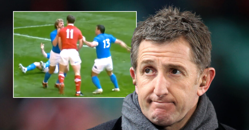 Commentator loses his cool on live TV with feisty Italian winger Bergamasco
