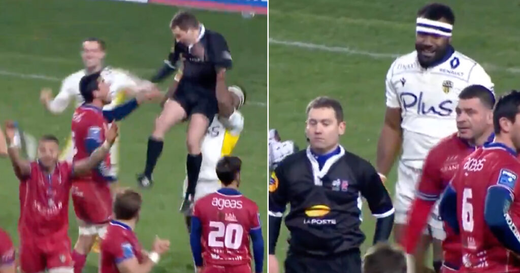 Fijian wing who lifted a referee like Lion King now faces a disciplinary hearing