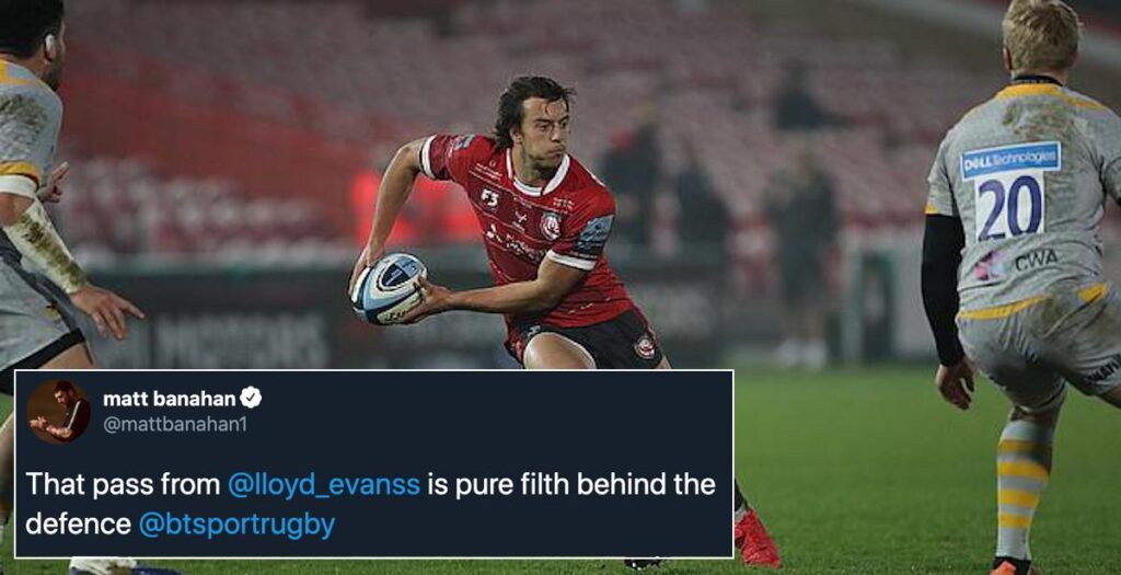WATCH: The delayed Evans pass which has ex-Premiership pros going mad