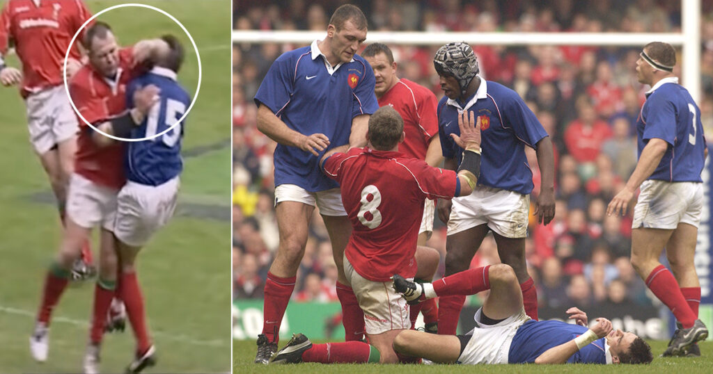 This 2002 Scott Quinnell challenge would surely be a red card and long ban these days