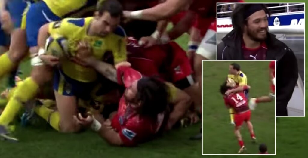 Rene Ranger gets yellow for HUGE illegal hit on Morgan Parra... then laughs