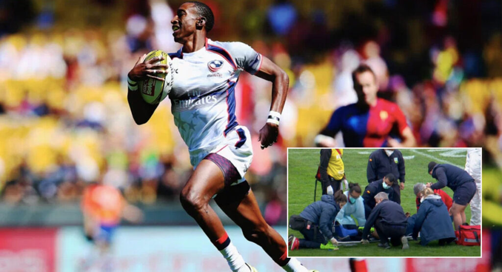 Perry Baker suffers awful injury in innocuous looking tackle at Madrid 7s