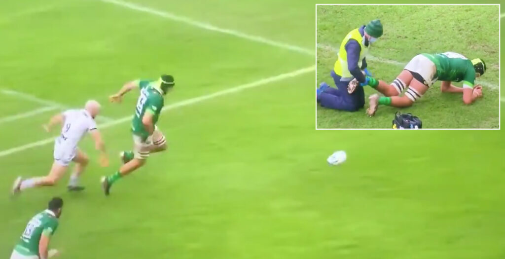 Heroic scenes as limping Wallaby sets up try in Premiership clash