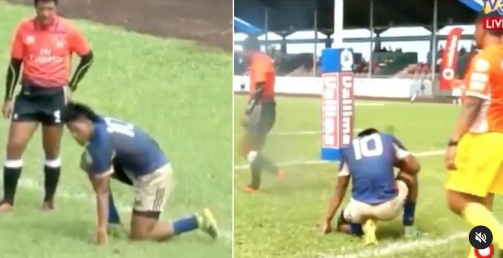WATCH: Hilarious try fail has Samoan commentators in stitches
