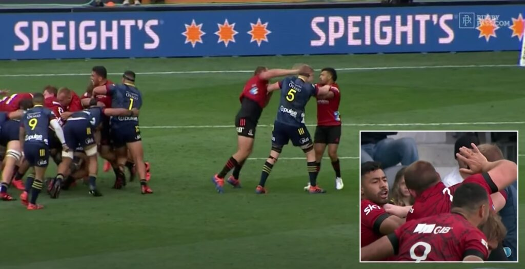 Nasty incident in Super Rugby Aotearoa opener goes unpunished as ref says play on