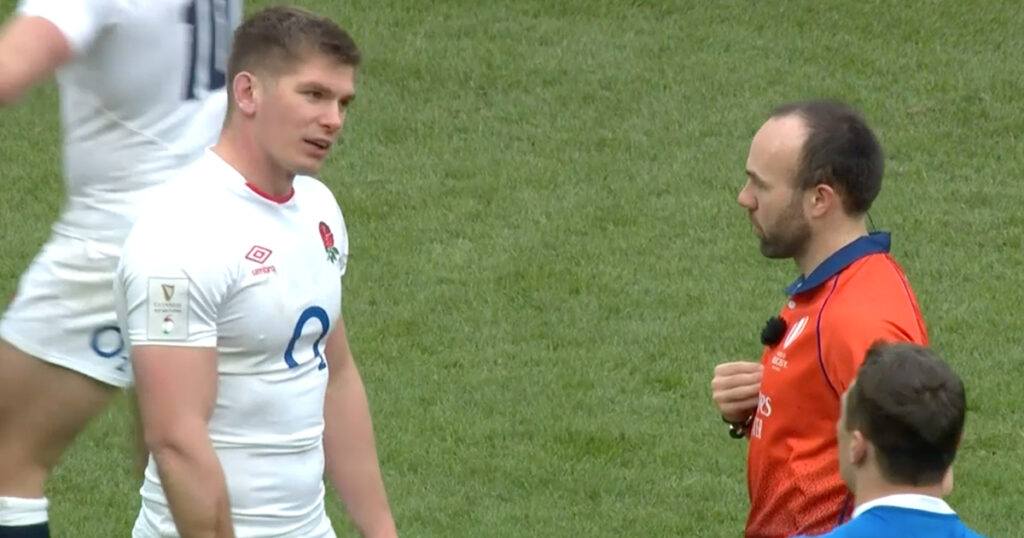 Nigel Owens calls out Owen Farrell over referee back-chat