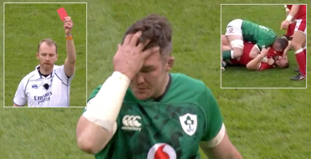 WATCH: O'Mahony red in Cardiff sparks anger among Six Nations fans