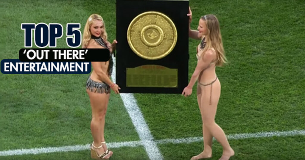 THROWBACK: Some of the most bizarre entertainment seen at rugby matches