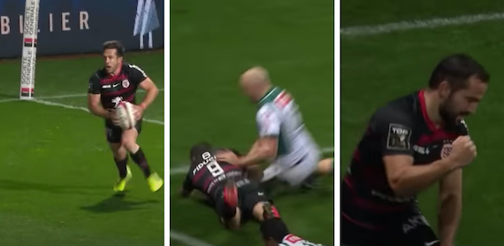 WATCH: Epic 100m Toulouse effort ruled penalty try after no-arms challenge