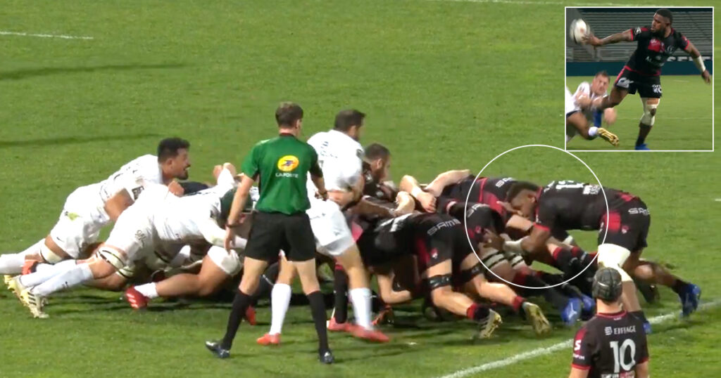 Josua Tuisova makes rugby look easy, this time setting up a try from No8
