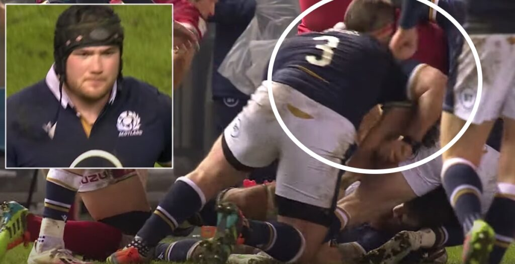 The controversial moment Scotland went down to 14 men against Wales
