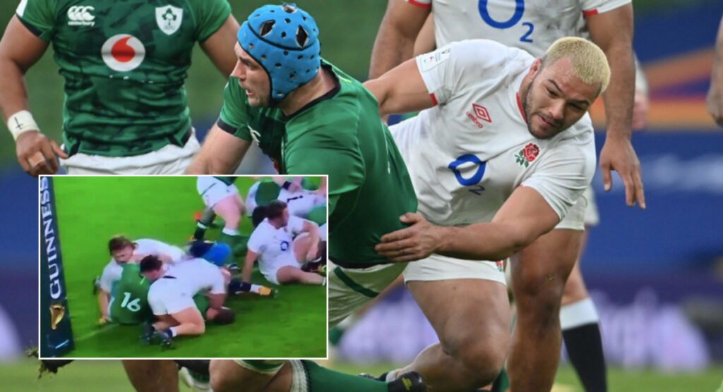 WATCH: Ellis Genge potentially in hot water for elbows on Johnny Sexton
