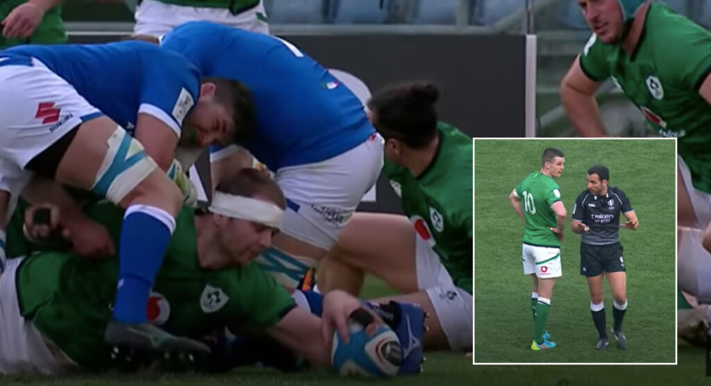 Officials somehow overrule seemingly clear Iain Henderson grounding