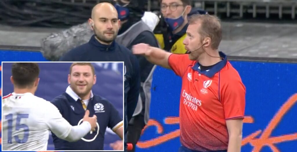 WATCH: Finn Russell red card in dramatic Six Nations decider