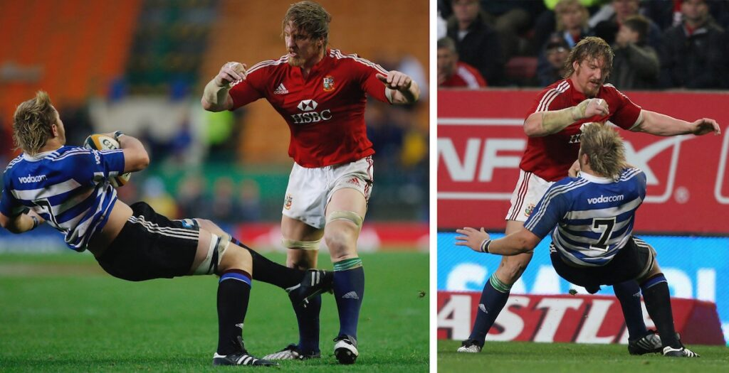 Re-live possibly the biggest hit of Andy Powell's career on emerging Springbok star