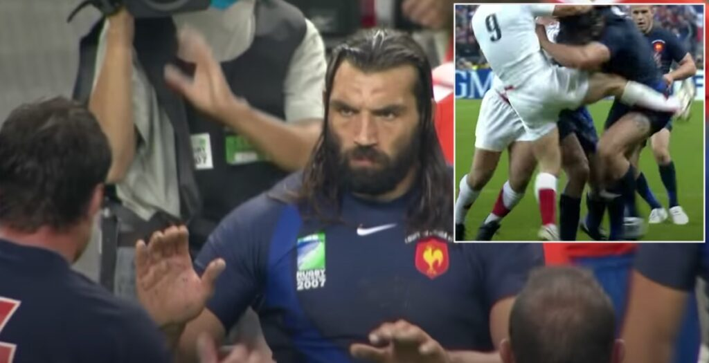 The biggest hits and greatest carries of Sébastien Chabal at 03 and 07 World Cups