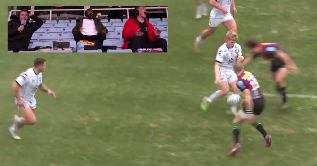 Quins commentary team lose it at thumping Esterhuizen tackle against Gloucester