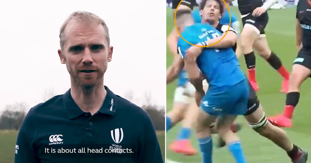 Wayne Barnes provides clarity on the always heavily debated Head Contact Process