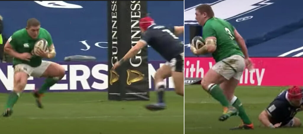 WATCH: 120kg prop leaves Scottish player on his arse after amazing footwork in Six Nations