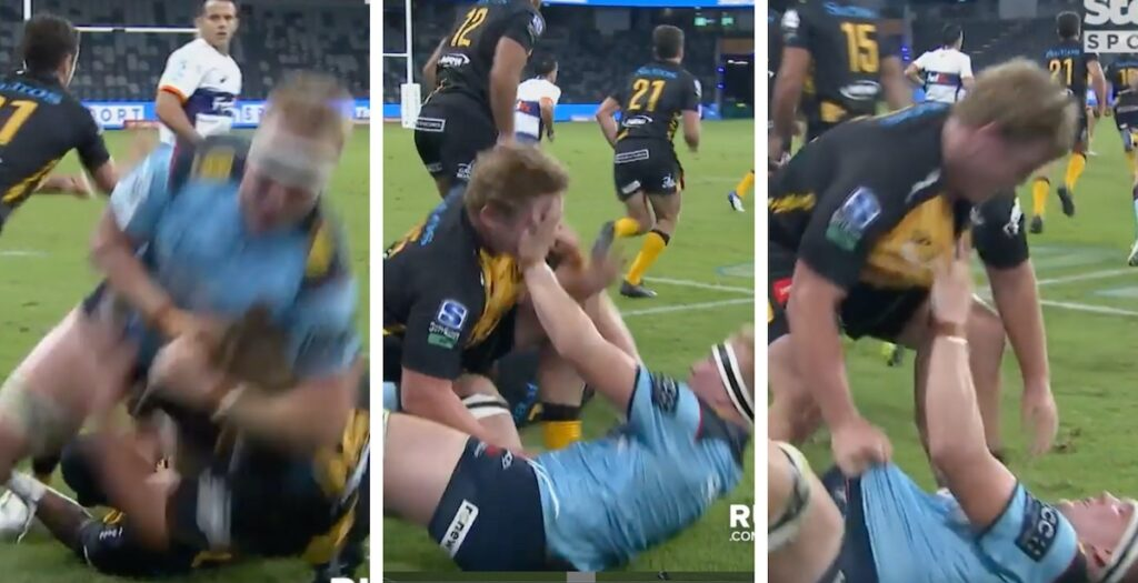 WATCH: Five seconds of pure head loss leads to red card in Super Rugby