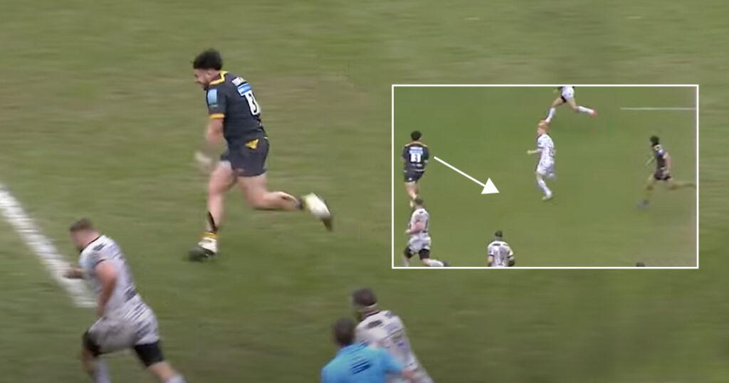 Tighthead rampages upfield then blows minds with one of the all-time great prop assists
