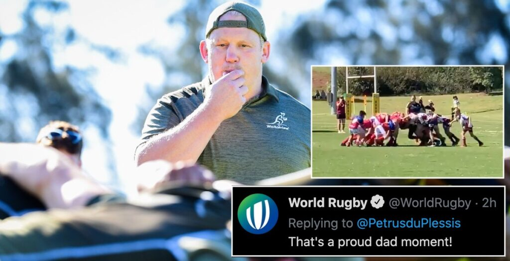 Petrus du Plessis video of son's dominant scrum shows signs of potential future star