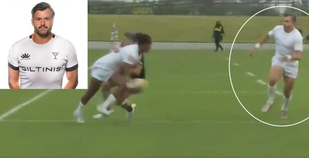 Wallabies legend Ashley-Cooper shows class in MLR with cheeky shoulder pass