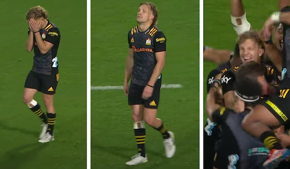 Fascinating player cam shows every emotion of Damian McKenzie's latest match-winner