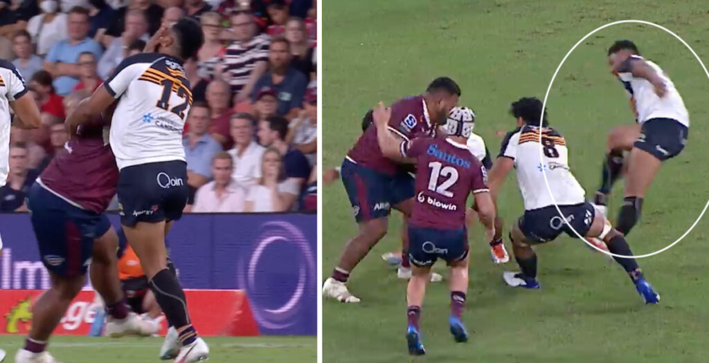Powerhouse Tongan Thor leaves opposition on his arse with HUGE handoff