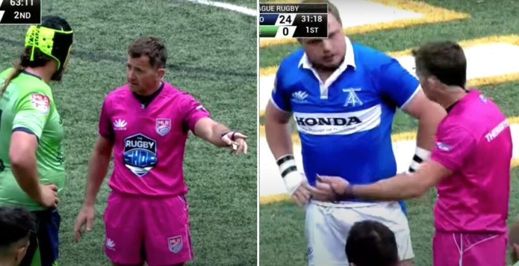 WATCH: JP Doyle puts MLR players in their place with authoritative return to refereeing