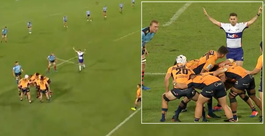 WATCH: Bizarre standoff in Super Rugby tests players on their rulebook knowledge