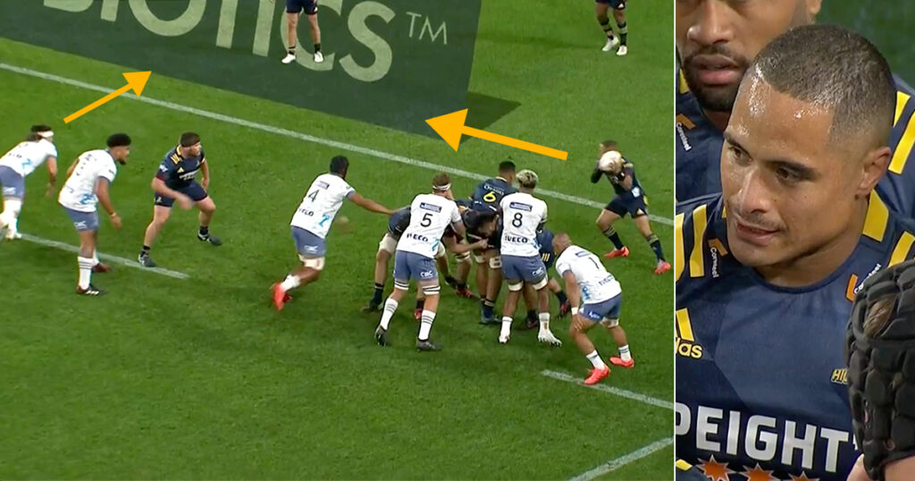 Aaron Smith left red faced as speedy opposite number steals a bullet behind the line