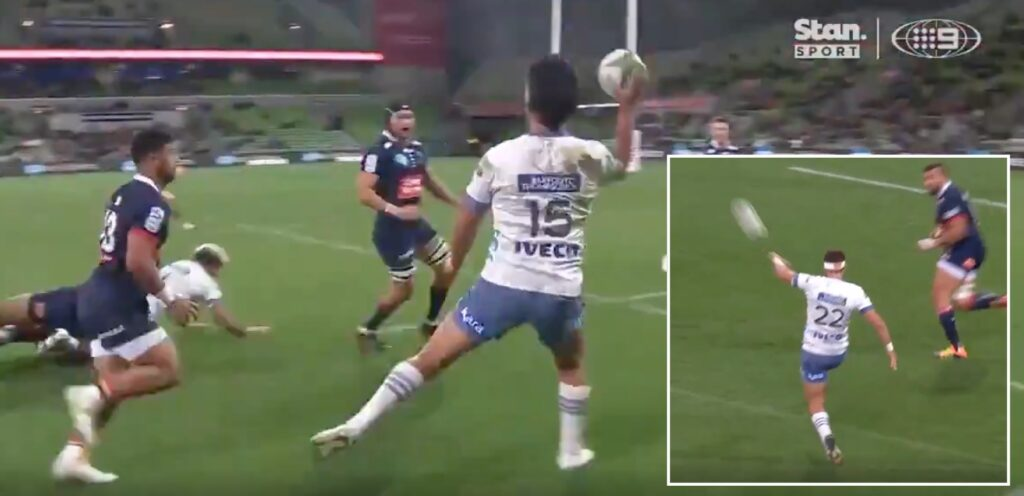 WATCH: Blues rip it up with try of the season contender in Melbourne