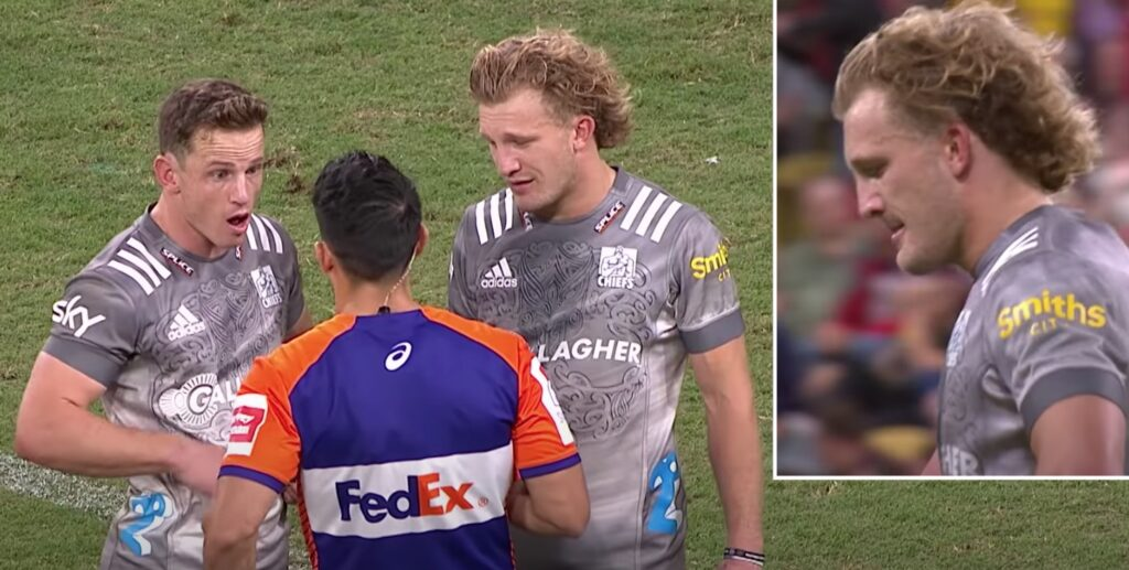 WATCH: McKenzie red card leaves Chiefs captain in shock vs the Reds