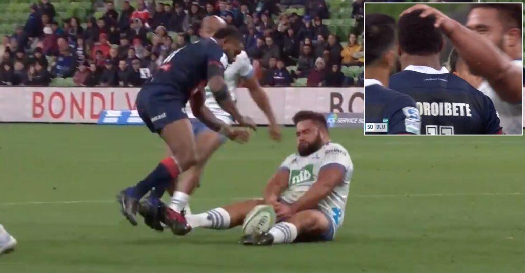 WATCH: Rib-crunching Koroibete hit leaves All Blacks prop on his arse