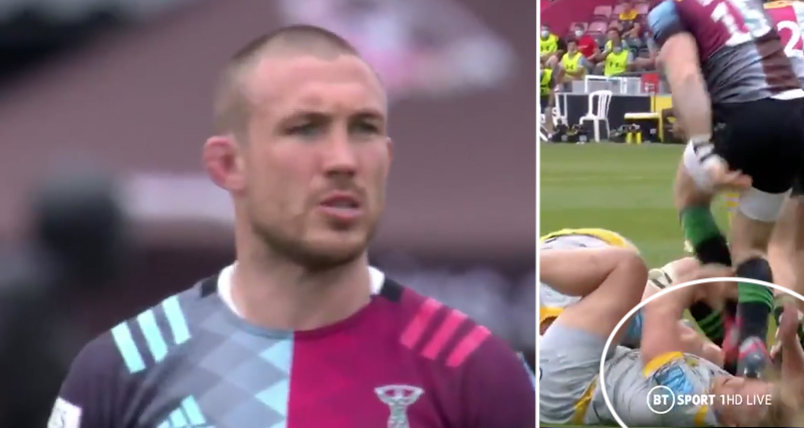 WATCH: The face stamp which may end Mike Brown's Harlequins career early
